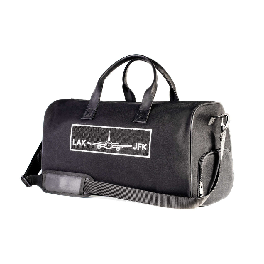 LAX - JKF Black Duffle Bag