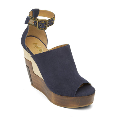 Navy Wood Wedge