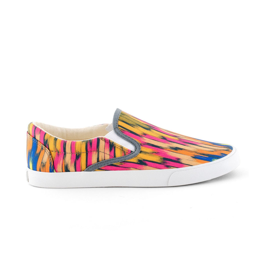 Rainbow Ikat Slip On