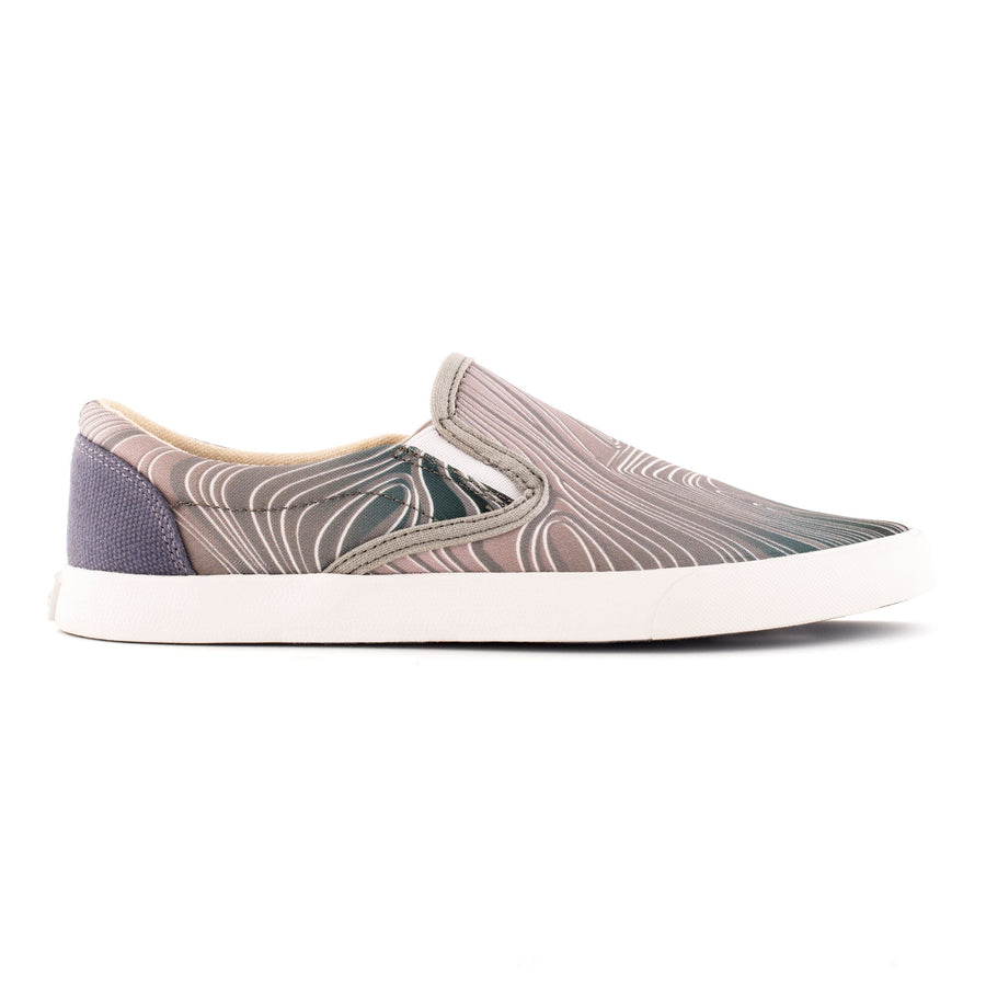 Red Rocks Grey Slip On