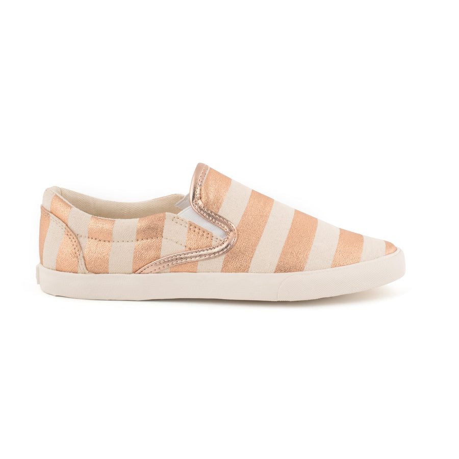 Rose Gold Stripes Slip On