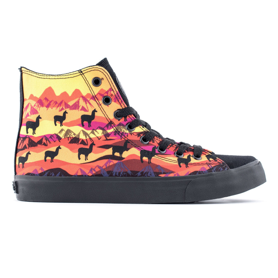 Sunset Llama High Top