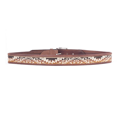 London Sky Leather Belt