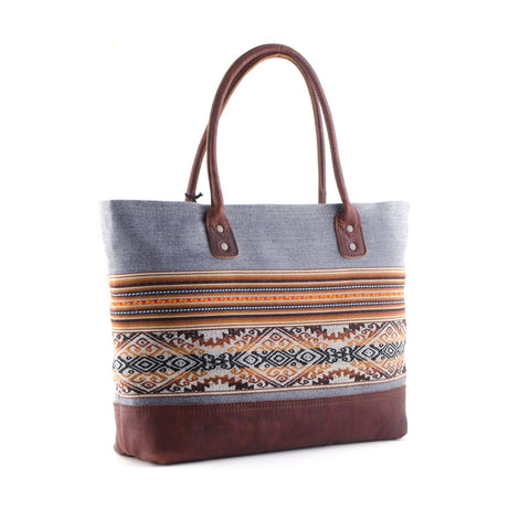 London Sky Leather Tote Bag