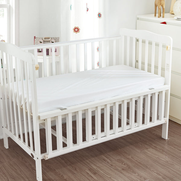 "Baby Crib Fitted Saftey® Sheets Crib Sheet ryan & emma bedding 22"" x 44"" x 3"" White"