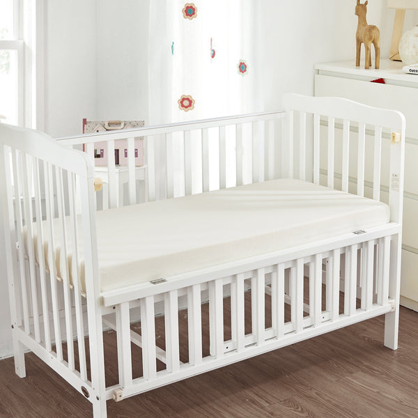 "Natural Cotton Fitted Safety® Crib Sheets Crib Sheet ryan & emma bedding 27"" x 54"" x 7"""