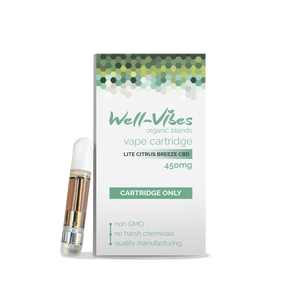 Broad Spectrum CBD Vape Cartridge (450mg) - Well-Vibes Organic