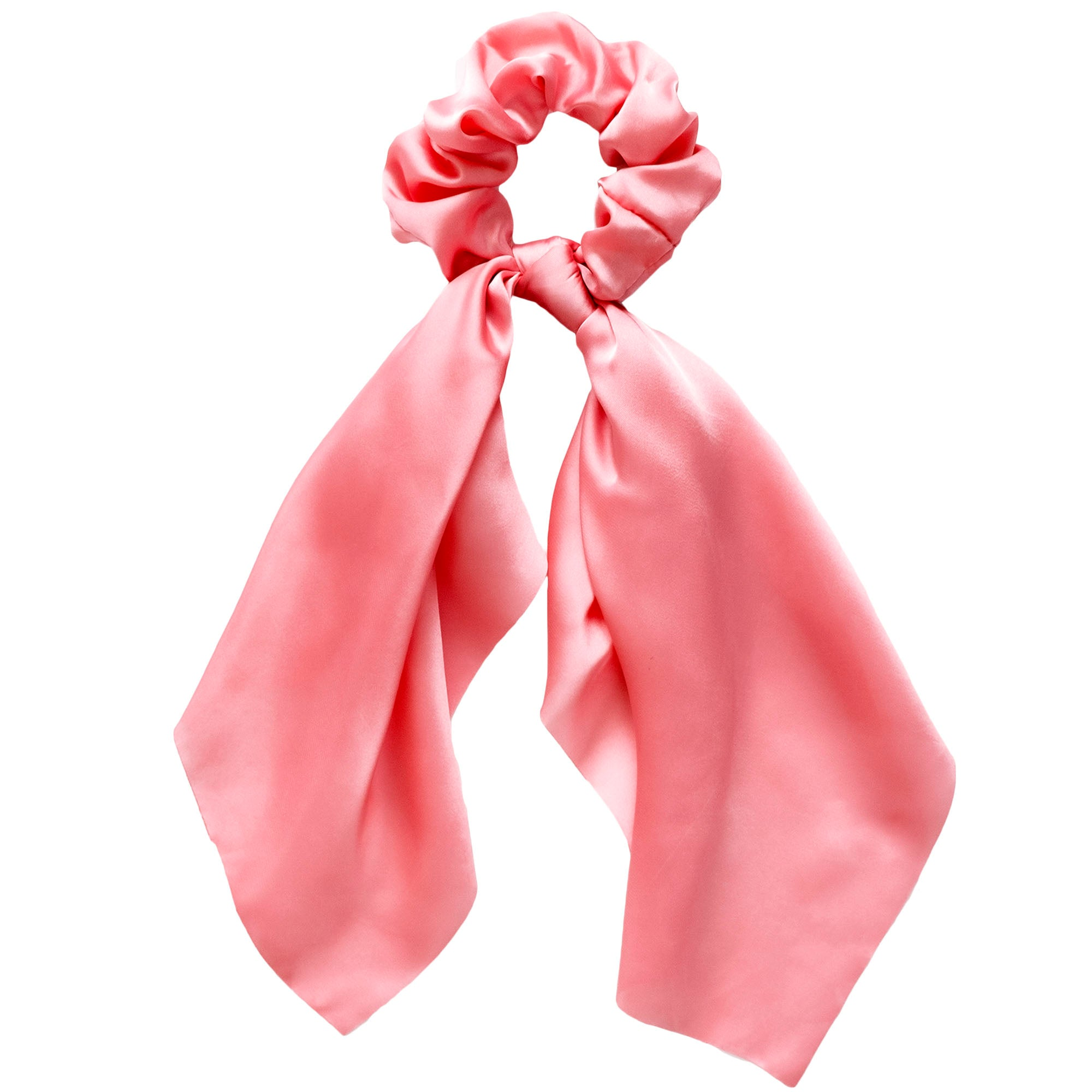 Pink Hair Scarf Scrunchie
