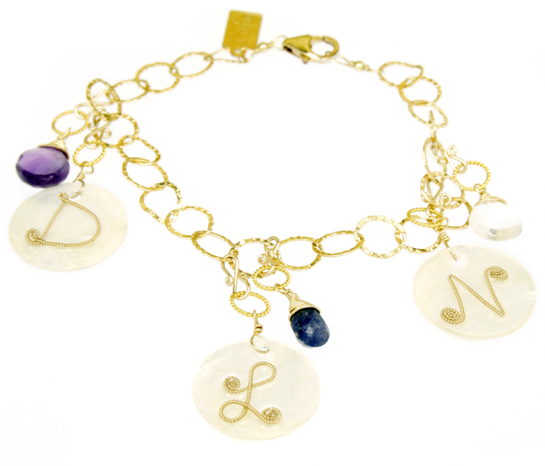 Mommy Shell Disc Bracelet BR155