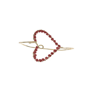 Heart Wrapped in Birthstones Bangle BR203