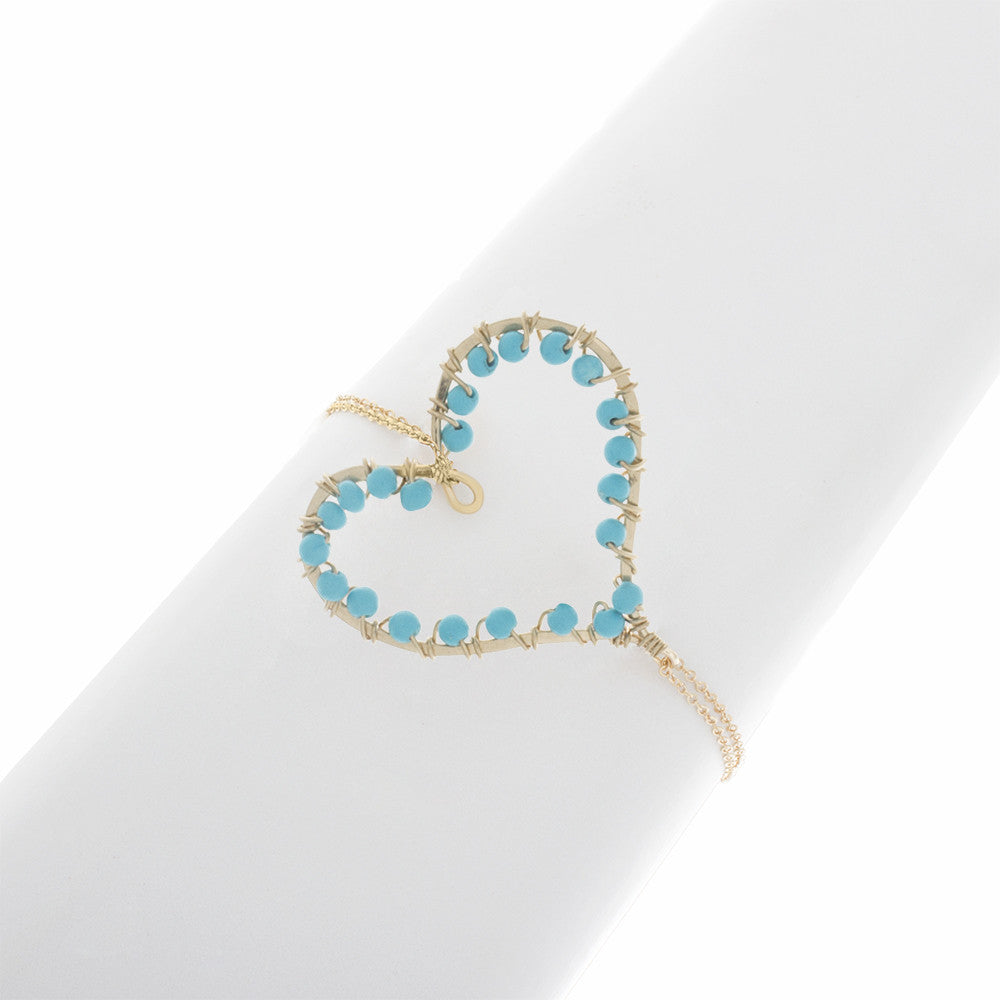 Heart Wrapped in Birthstones with Chain Bracelet BR205