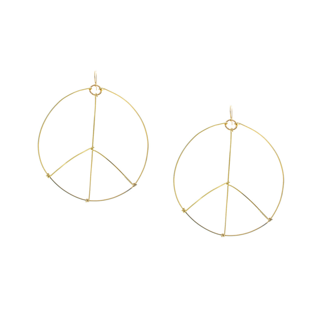 Large Peace Sign Earrings