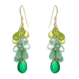 Jungle Green Drop Earrings