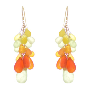 Orange & Lemon Drop Earrings