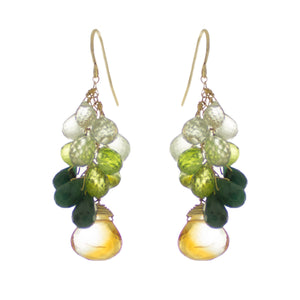 Cedar Green Drop Earrings
