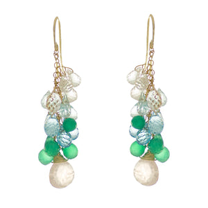Sage Rose Drop Earrings