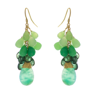 Shamrock Green Drop Earrings
