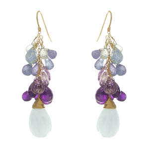 Ultraviolet  Drop Earrings