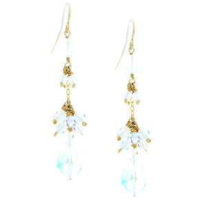 Swarovski Crystal Drops with Clustered Crystals