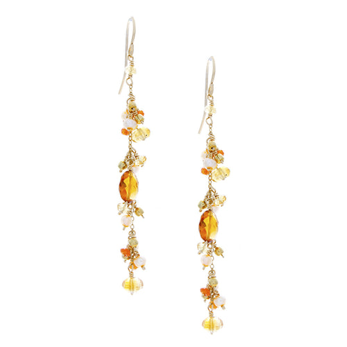 Citrine/Orange Carnelian/Pearls