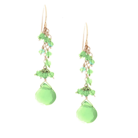 Green Onyx drop with Green Onyx Rondelles