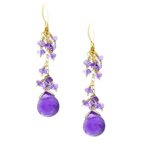Amethyst with Amethyst Rondelles