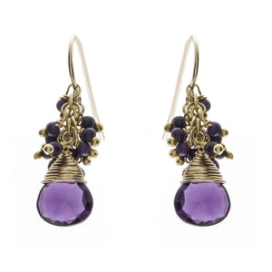 Kuthodaw Amethyst Drop Earrings