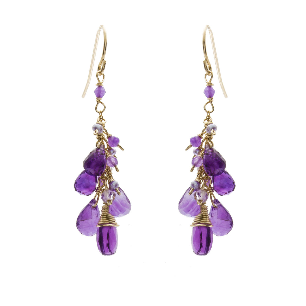 Bagan Amethyst Earrings