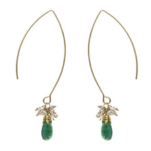Mahamuni Earrings with Emerald or Ruby Drop