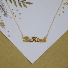 Be Kind Nameplate Necklace
