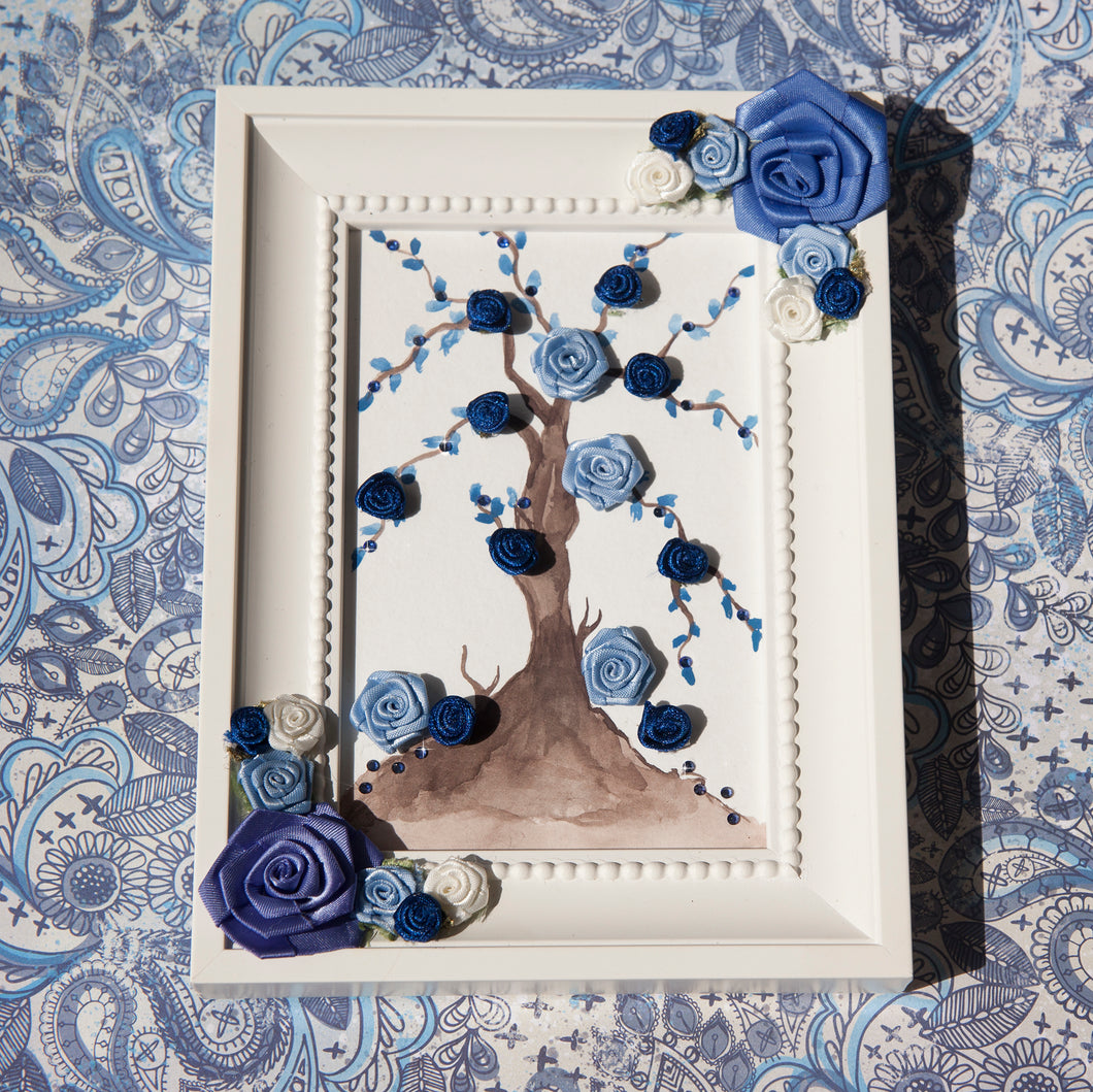 Flower Bloom Frame - Powder Blue