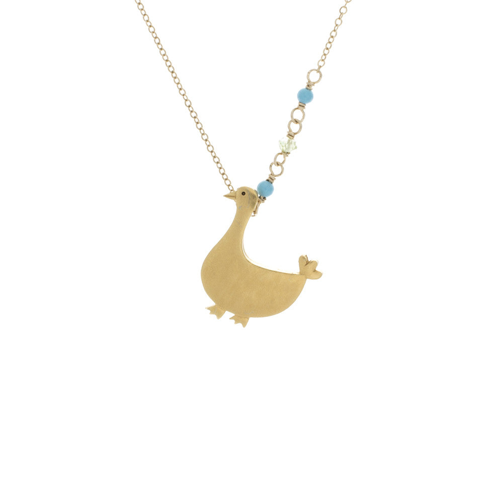 Duck with Turquoise and Peridot