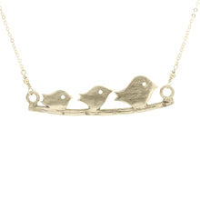 Mommy Necklace: Mama Bird and Her Babies on a Branch