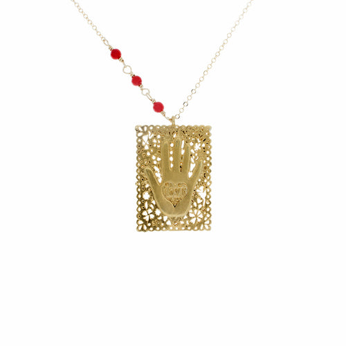 Love Hand Stamp Necklace