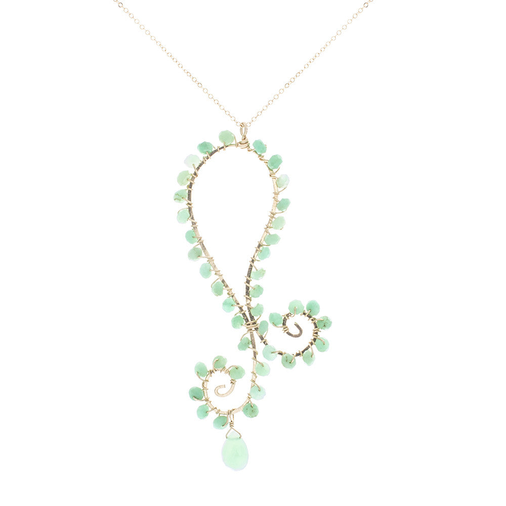 Paisley with Chrysoprase Drops