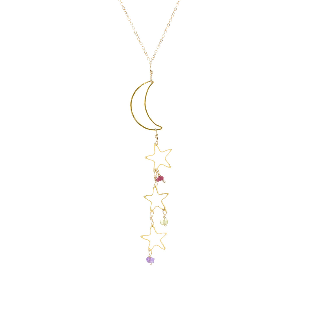Moon and Star Mommy Necklace