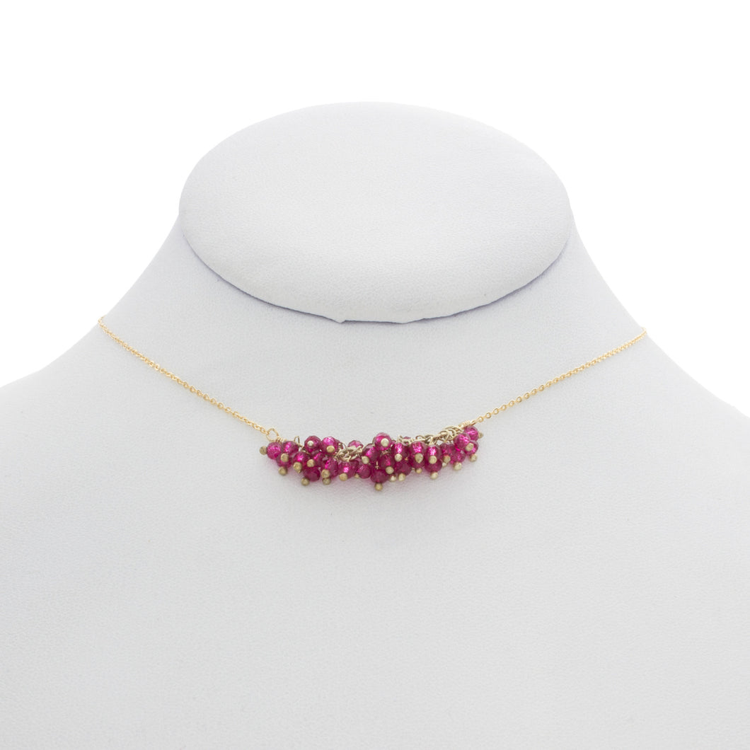 Rolled Grape Cluster Necklace