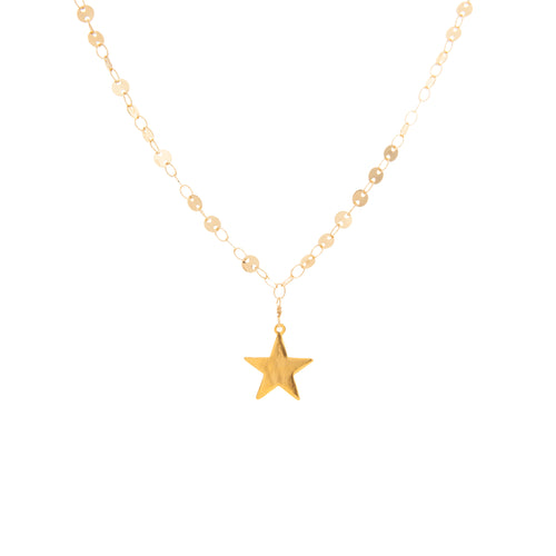 Flat Star on Flat Circle Chain Choker