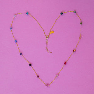 Rainbow Swarovski 8mm Round Bead Chain