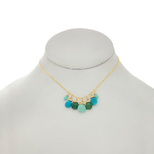 Arizona Blue - Turquoise and Emerald Drops Necklace