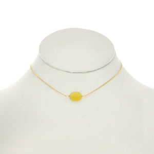 Orange & Lemon - Yellow Opal Stone on 14k gold filled chain