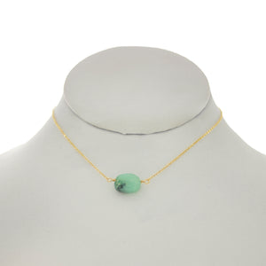 Jungle Green - Chrysoprase Oval Necklace