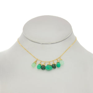 Jungle Green - Chrysoprase, Apatite Drop Necklace