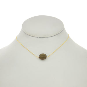 Olivine -Whiskey Topaz Necklace