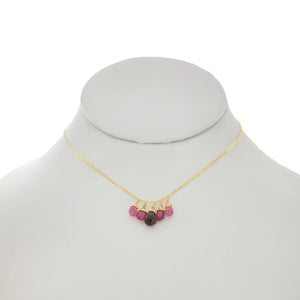 China Rose - Pink Tourmaline & Pink Sapphire Drops Necklace