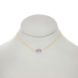 Ultraviolet - Oval Amethyst Necklace