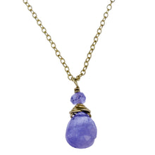 Tanzanite One Drop Necklace