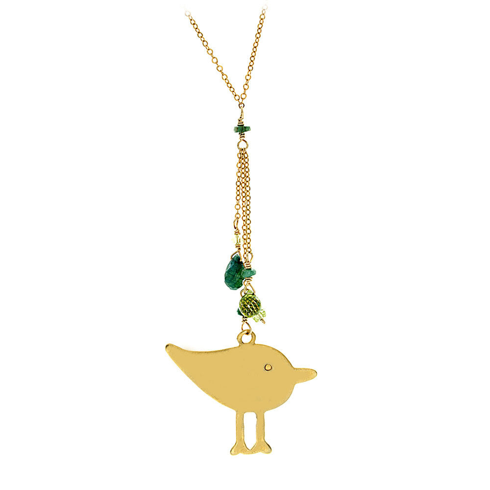 Large Chick with Peridot and Emerald