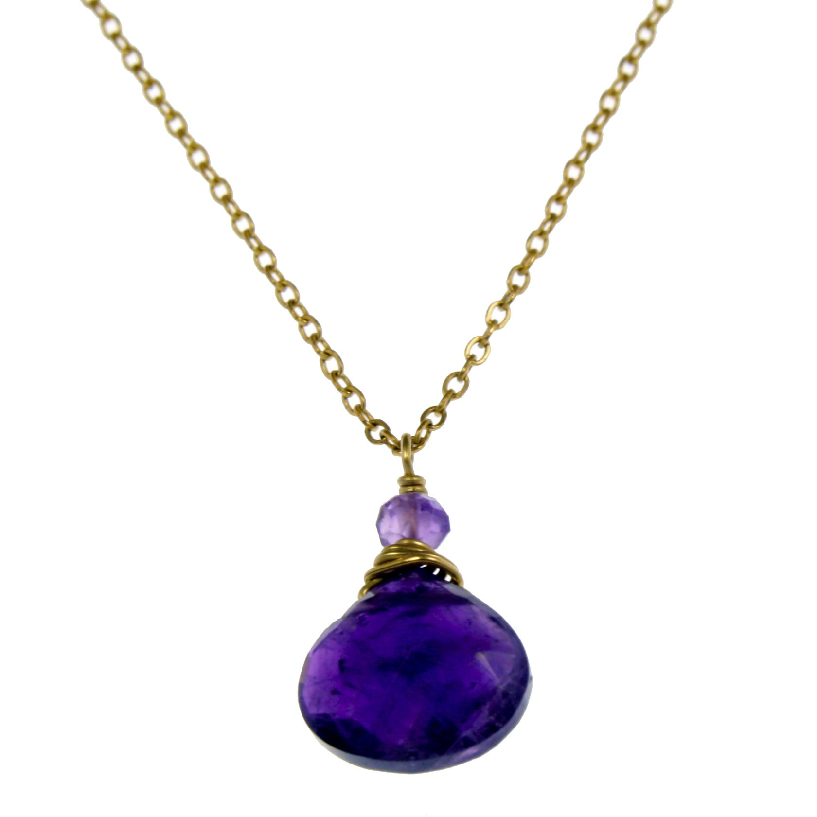 Amethyst One Drop Necklace
