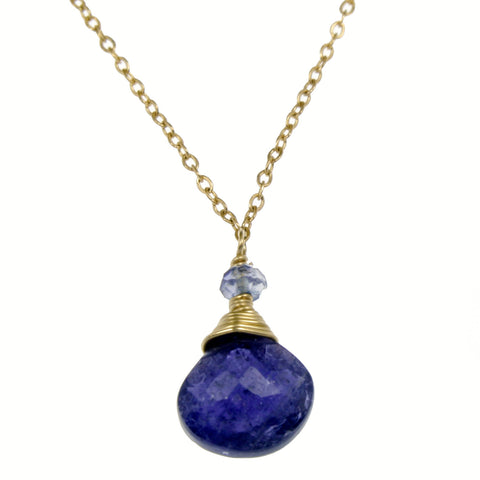Iolite One Drop Necklace